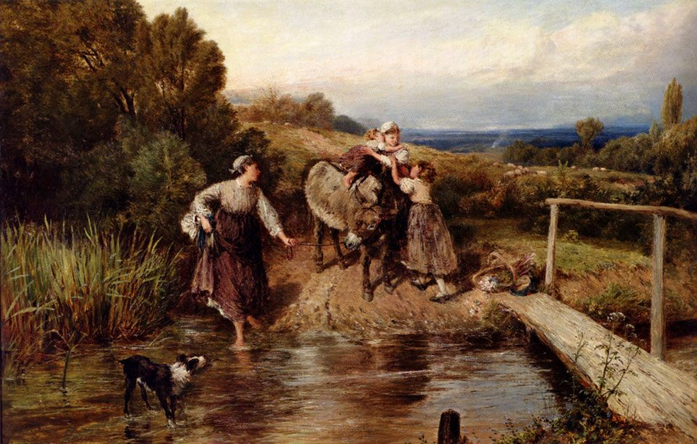 The Ford :: Myles Birket Foster - Village life фото