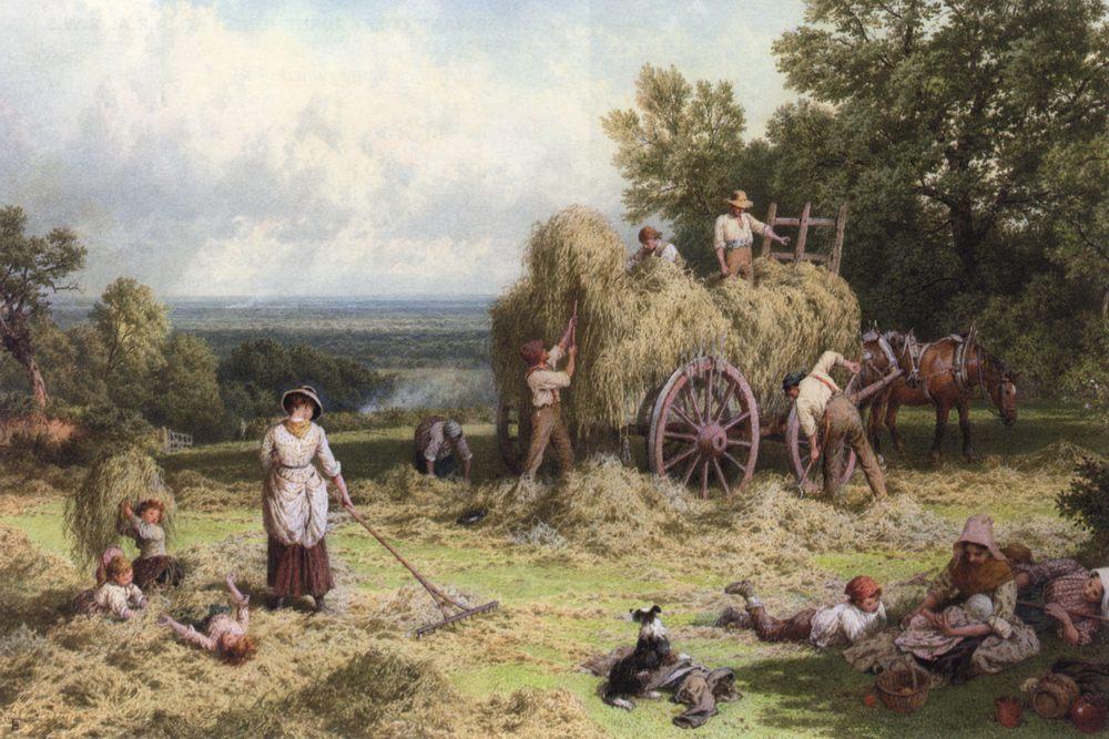 The Hay Wain :: Myles Birket Foster - village life фото