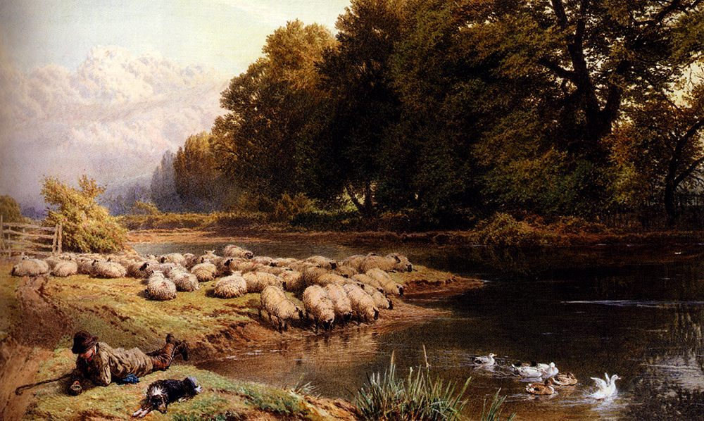 The Shepherd's Rest :: Myles Birket Foster - Village life ôîòî