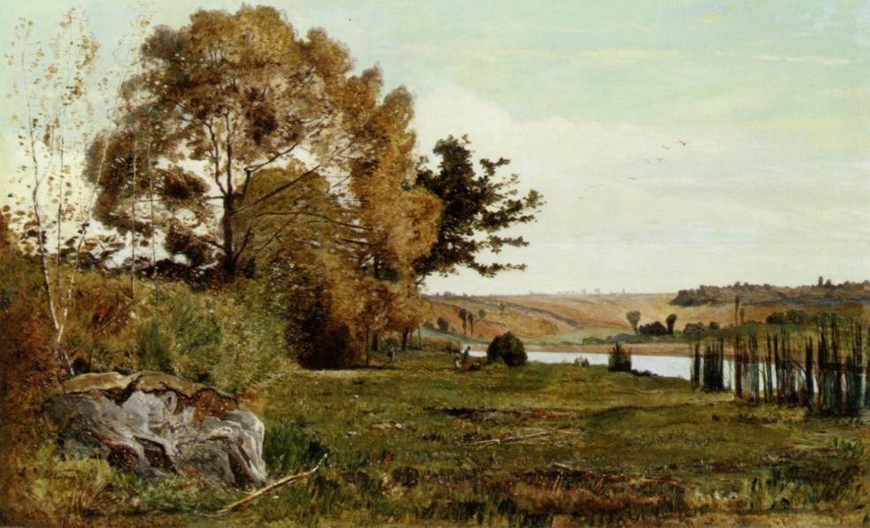 An Autumn Morning :: Paul-Camille Guigou - Village life ôîòî