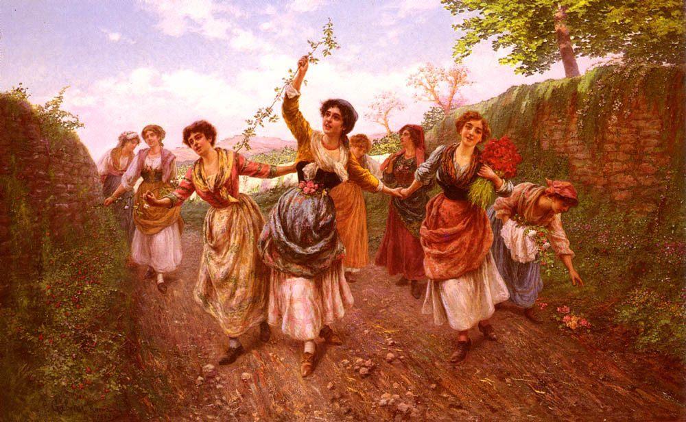 A Spring Festival :: Pietro Gabrini - Village life ôîòî
