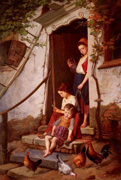 The Farmer's Children :: Theodore Gerard  - Village life ôîòî