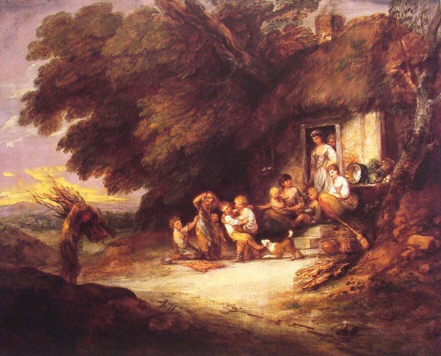The Cottage Door :: Thomas Gainsborough - village life фото