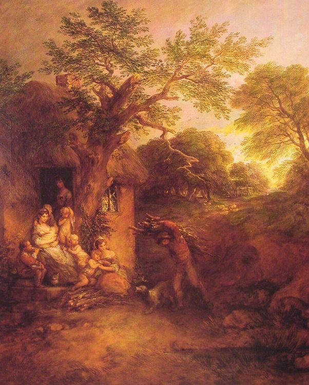 The Woodcutters' Return :: Thomas Gainsborough - Village life фото