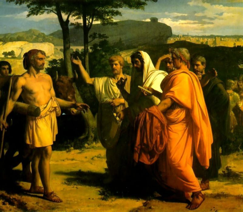 Cincinnatus Receiving Deputies of the Senate :: Alexandre Cabanel  - Antique world scenes фото