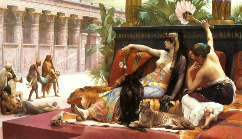 Cleopatra Testing Poisons on Condemned Prisoners :: Alexandre Cabanel - Antique world scenes фото