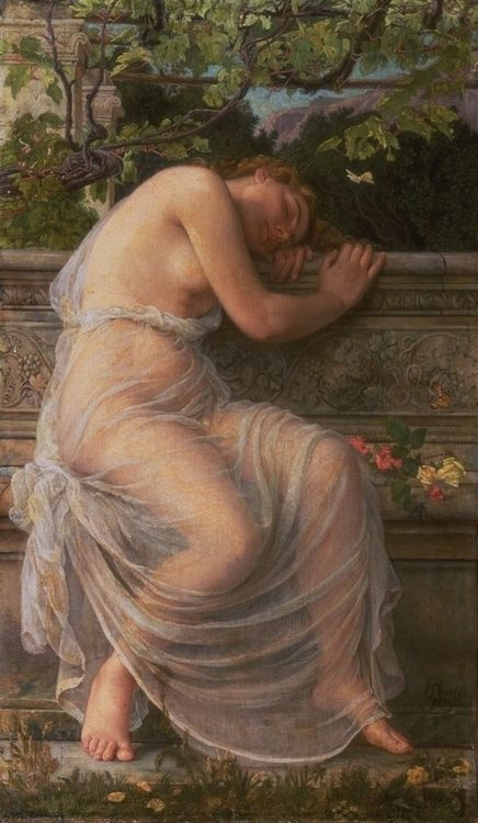 The Sleeping Girl :: Edith Corbet - Antique beauties in art and painting фото