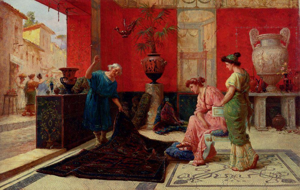The Carpet Seller :: Eduardo Forti - Antique world scenes ôîòî