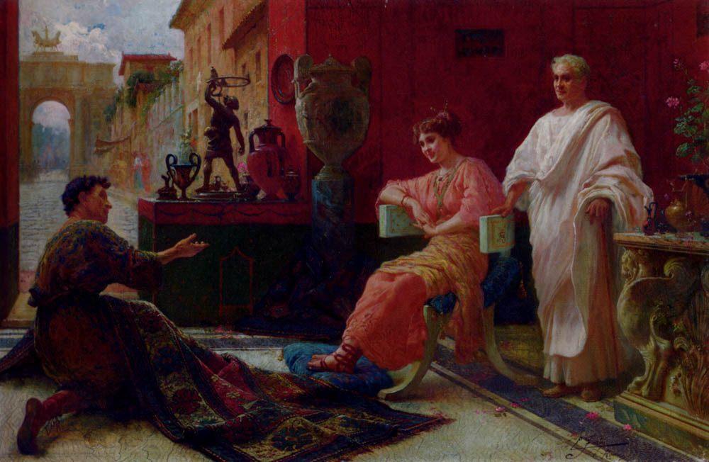 The Carpet Merchant :: Ettore Forti - Antique world scenes ôîòî
