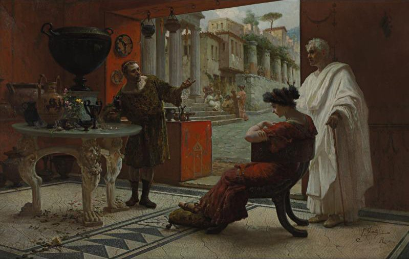 The Vendor of Antiquities :: Ettore Forti - Antique world scenes ôîòî