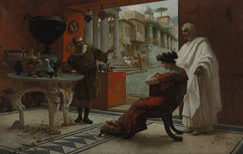 The Vendor of Antiquities :: Ettore Forti - Antique world scenes фото