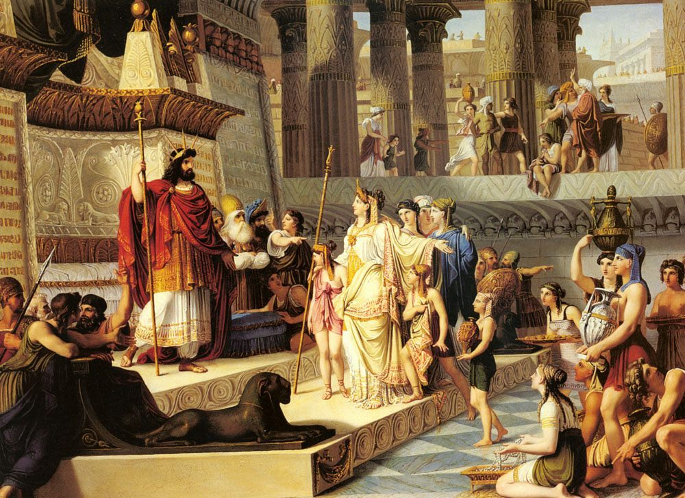 Solomon And The Queen Of Sheba :: Giovanni Demin - Antique world scenes фото