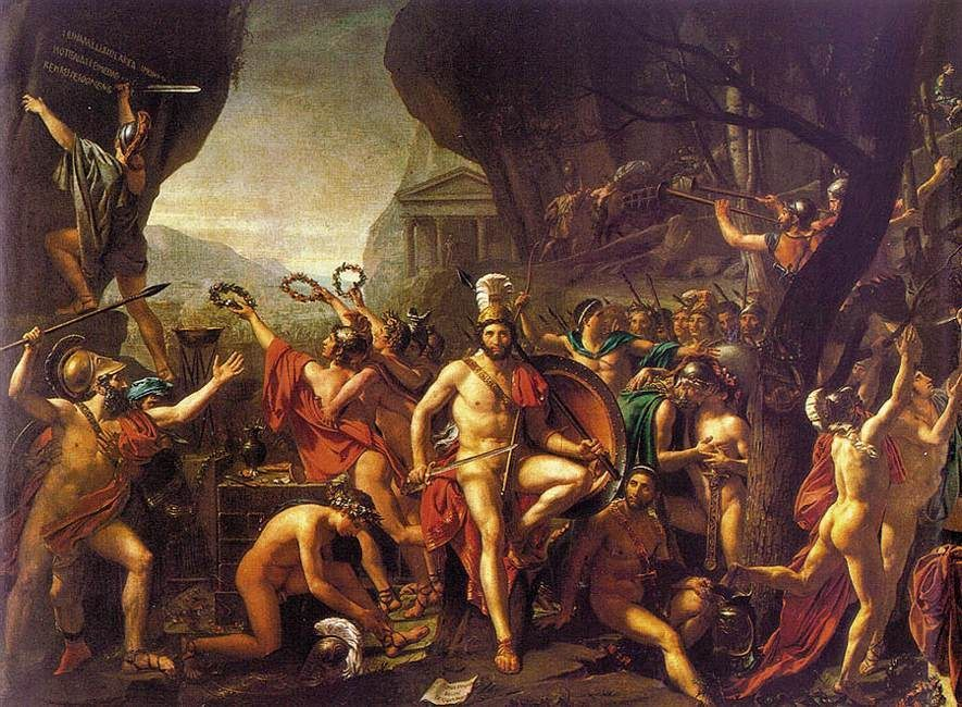 Leonidas at Thermopylae :: Jacques-Louis David - Antique world scenes фото