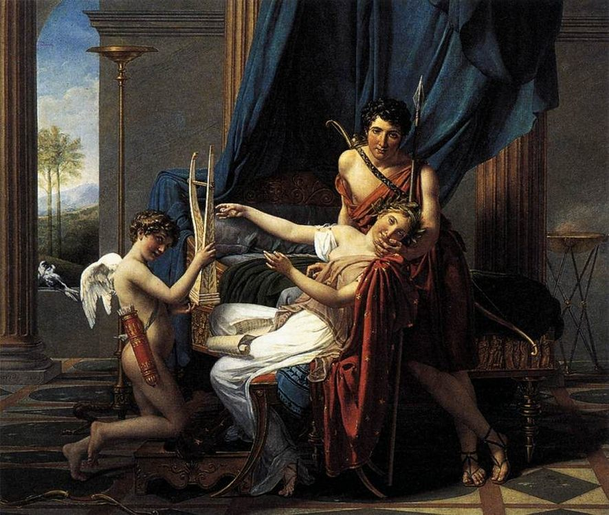Sappho and Phaon :: Jacques-Louis David - Art scenes from literary works ôîòî
