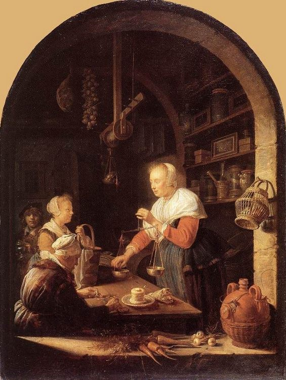 The Grocers Shop :: Gerrit Dou - Interiors in art and painting фото