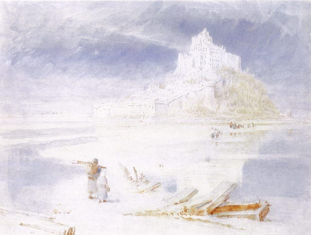 Mont St Michel :: Albert Goodwin  - Architecture ôîòî