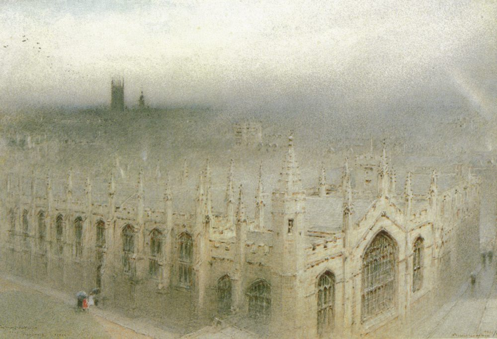 The Rain From Heaven, All Souls, Oxford :: Albert Goodwin - Architecture ôîòî