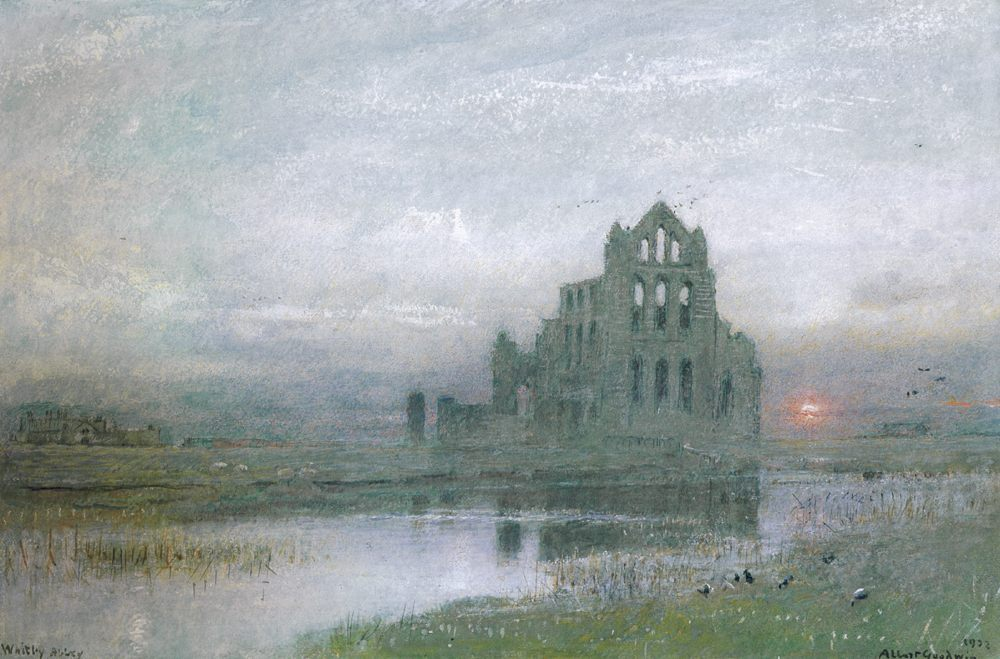 Whitby Abbey :: Albert Goodwin - Architecture фото