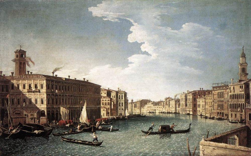 The Grand Canal with the Fabbriche Nuove at Rialto :: Bernardo Canal - Venice ôîòî