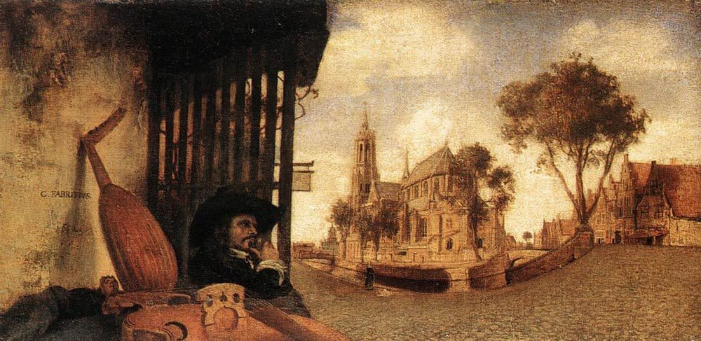 View of the City of Delft :: Carel Fabritius - Architecture ôîòî