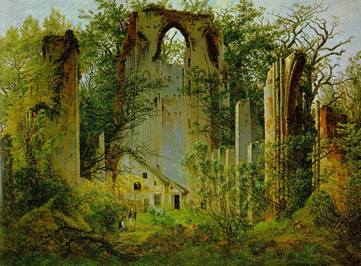 Eldena Ruin :: Caspar David Friedrich - Architecture фото