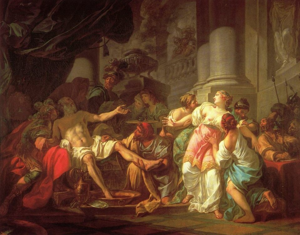 The Death of Seneca :: Jacques-Louis David - Antique world scenes ôîòî