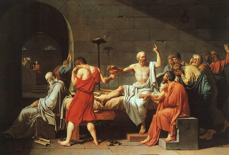 The Death of Socrates :: Jacques-Louis David - Antique world scenes фото
