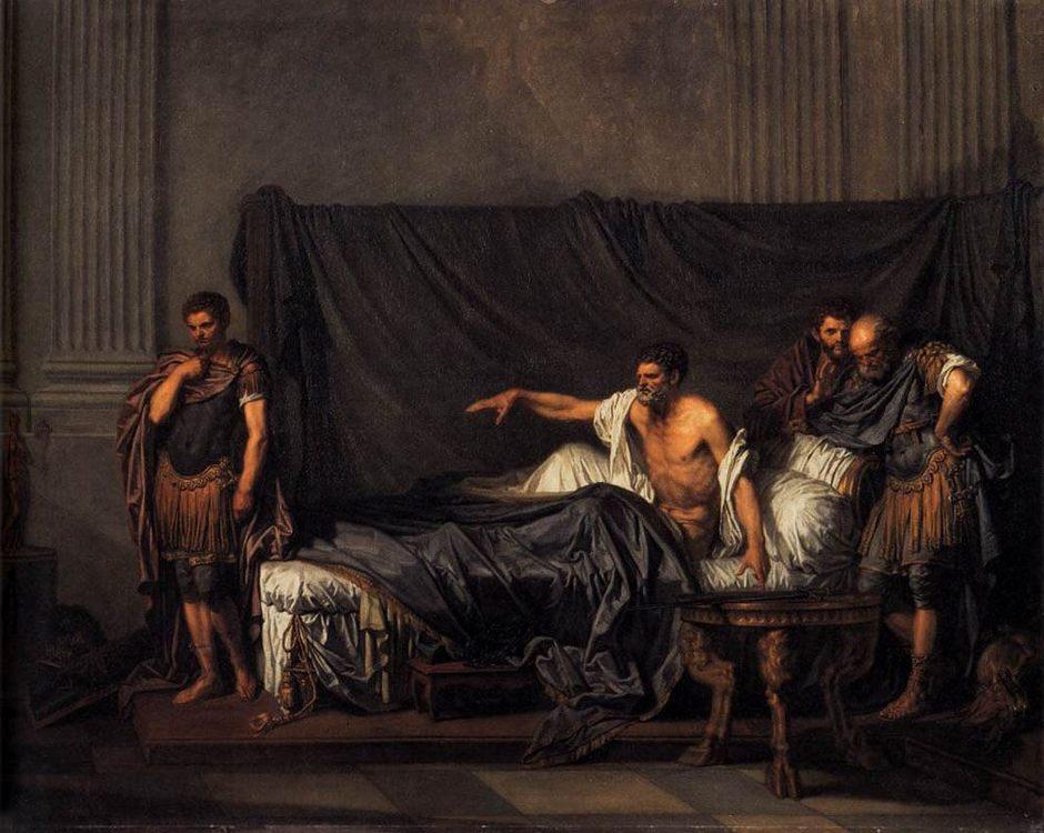 Septimius Severus and Caracalla :: Jean Baptiste Greuze - Antique world scenes фото