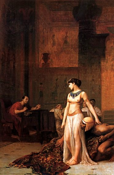 Cleopatra before Caesar :: Jean-Leon Gerome - Antique world scenes фото
