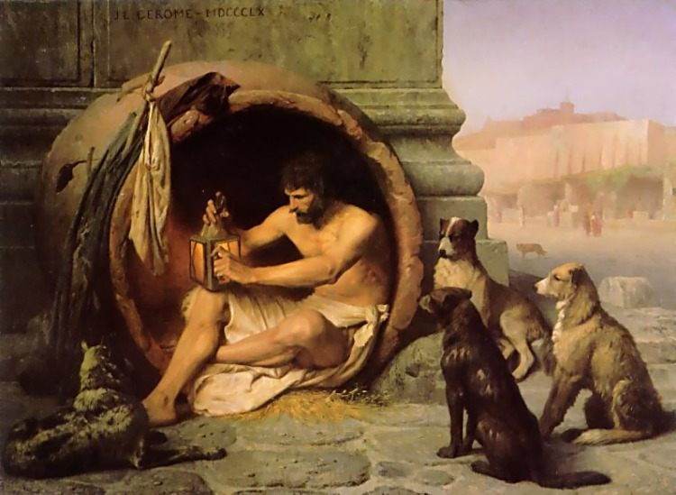 Diogenes :: Jean-Leon Gerome - Antique world scenes фото