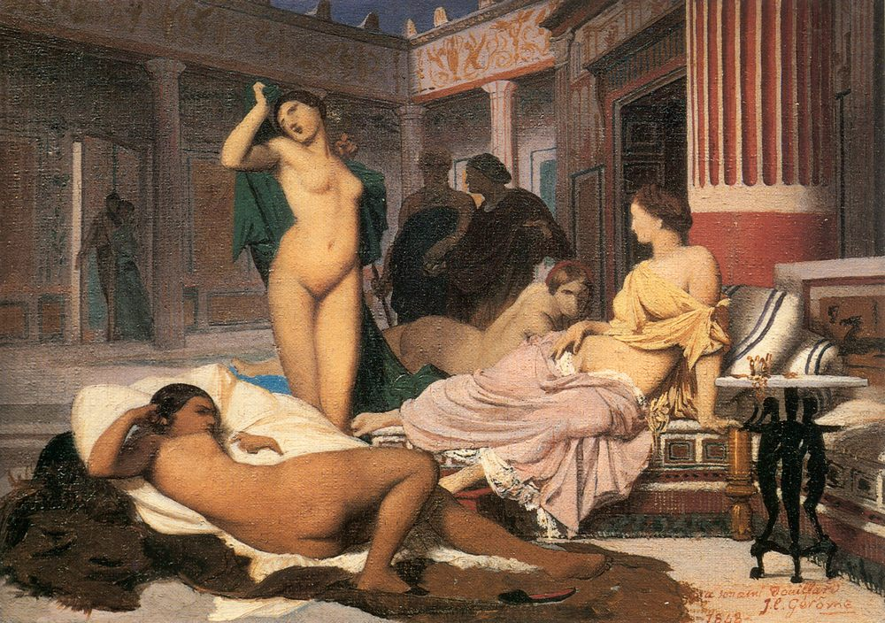 Greek Interior [sketch] :: Jean-Leon Gerome - Antique world scenes фото