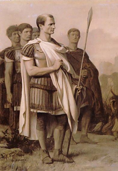 Julius Caesar and Staff :: Jean-Leon Gerome - Antique world scenes ôîòî