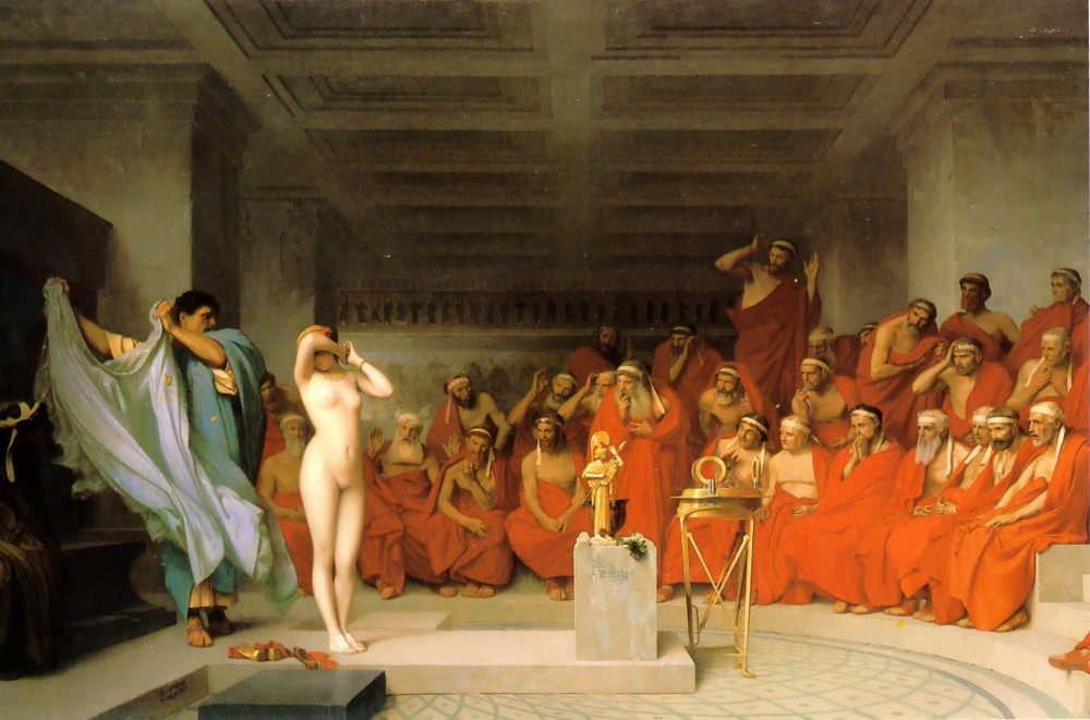 Phryne before the Areopagus :: Jean-Leon Gerome  - Antique world scenes фото