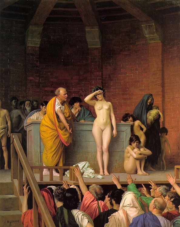 Slave Auction :: Jean-Leon Gerome - Antique world scenes ôîòî