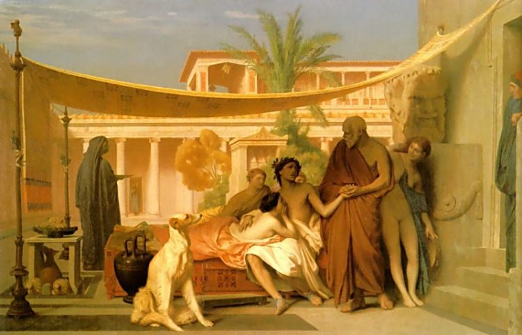 Socrates seeking Alcibiades in the House of Aspasia :: Jean-Leon Gerome - Antique world scenes фото