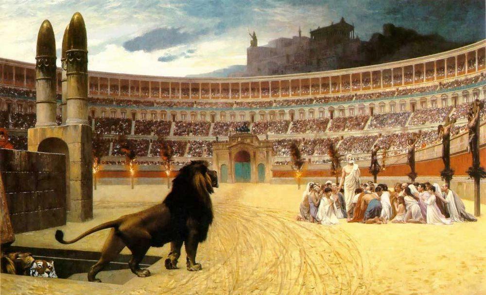 The Christian Martyrs' Last Prayer :: Jean-Leon Gerome - Antique world scenes ôîòî