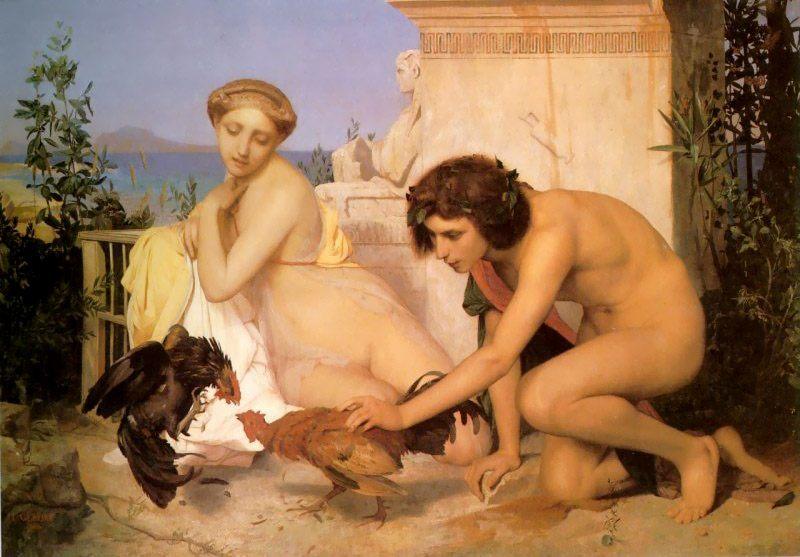 The Cock Fight :: Jean-Leon Gerome - Antique world scenes фото