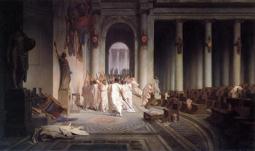 The Death of Caesar :: Jean-Leon Gerome - Antique world scenes фото