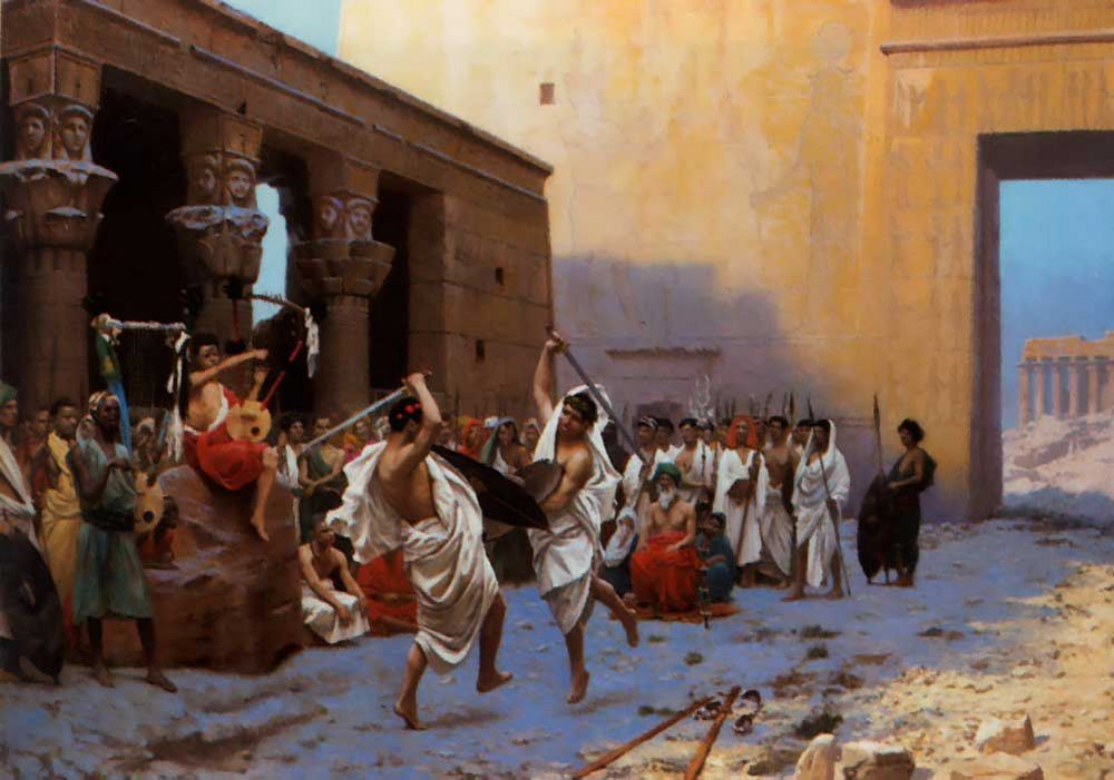 The Pyrrhic Dance :: Jean-Leon Gerome  - Antique world scenes фото