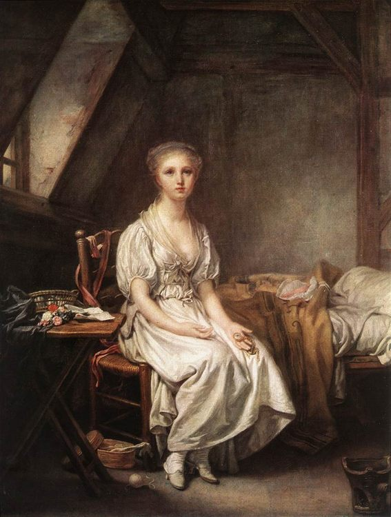The Complain of the Watch :: Jean Baptiste Greuze - Interiors in art and painting фото