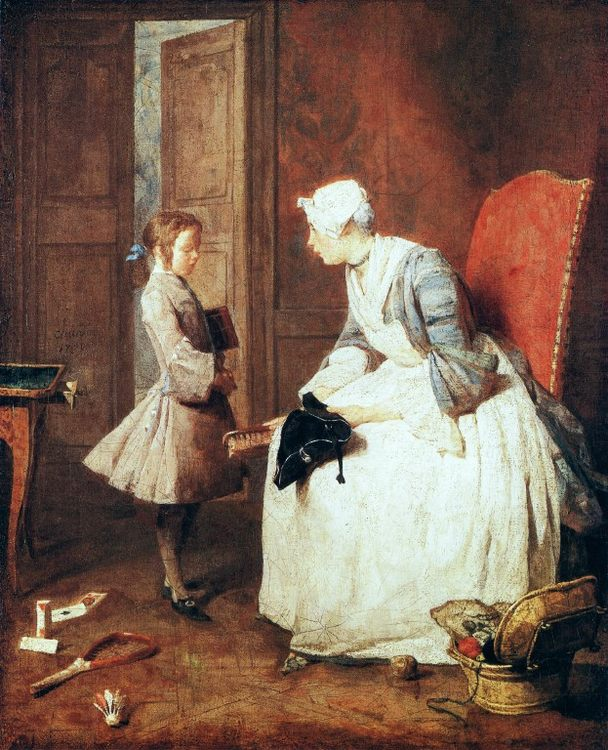 The Governess :: Jean-Baptiste-Simeon Chardin - Interiors in art and painting фото