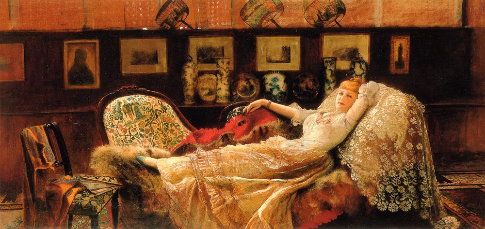 Day Dreams :: John Atkinson Grimshaw - Interiors in art and painting ôîòî