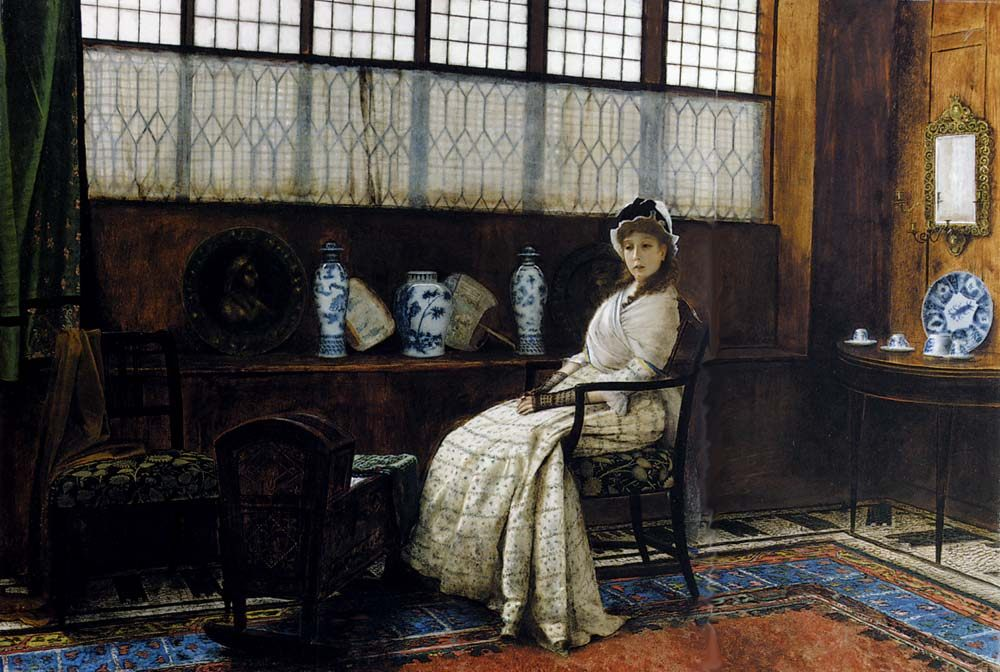 The Cradle Song :: John Atkinson Grimshaw - Interiors in art and painting фото