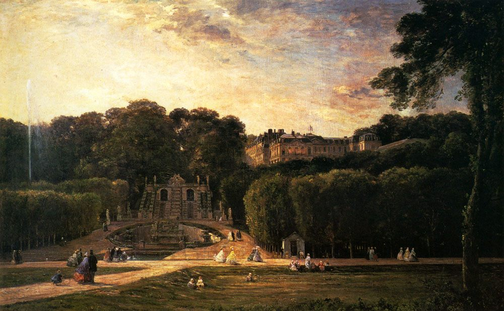 The Park At St.Cloud :: Charles-Franзois Daubigny - Architecture ôîòî