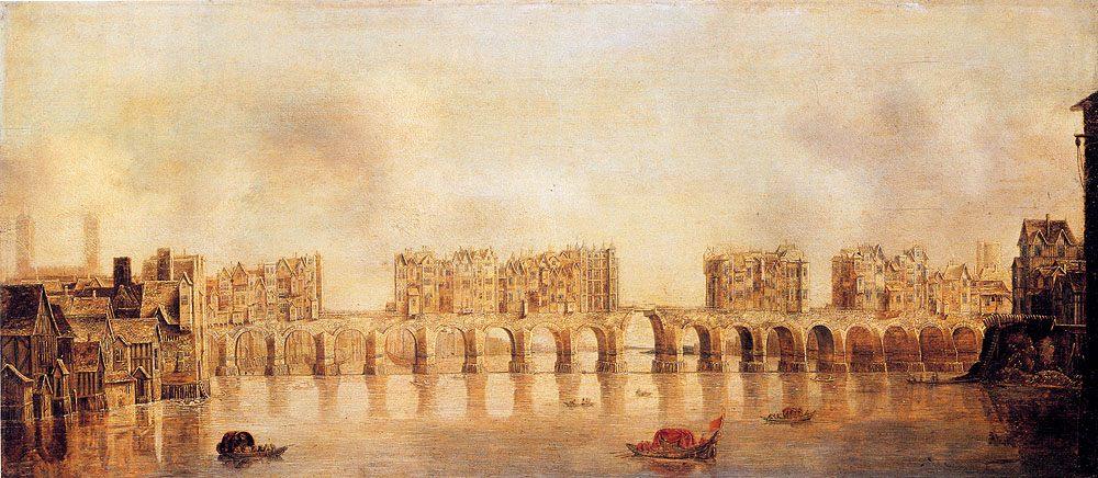 Of Old London Bridge From The West :: Claude De Jongh View - Architecture ôîòî