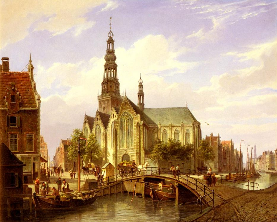 A Capriccio View Of Amsterdam :: Cornelis Christiaan Dommelshuizen - Architecture фото