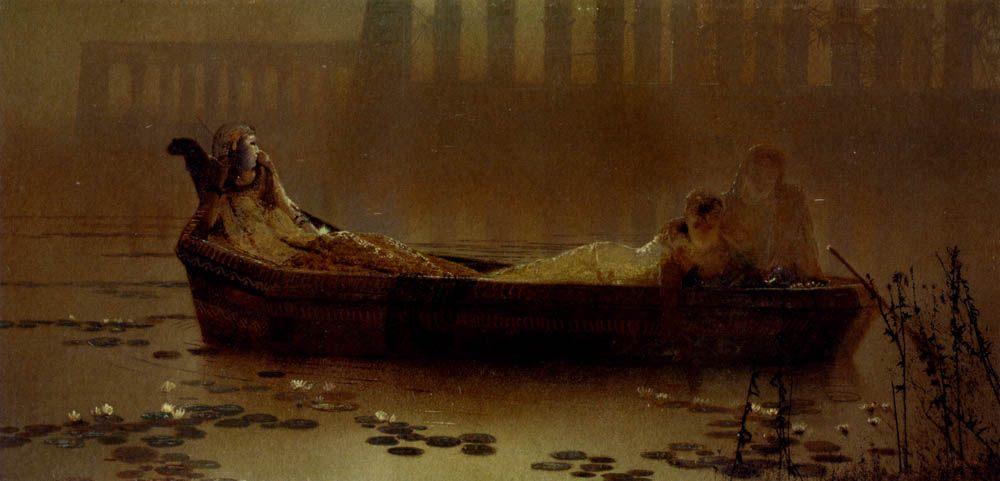 The lotus gatherers :: John Atkinson Grimshaw - Antique world scenes фото
