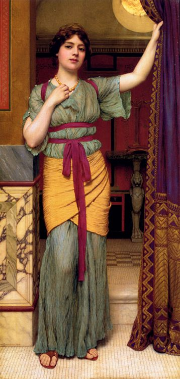 A Pompeian Lady :: John William Godward - Antique world scenes фото