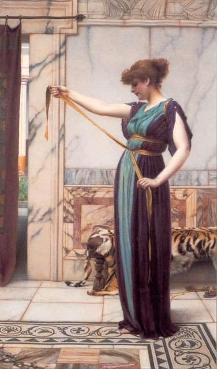 A Pompeian Lady :: John William Godward  - Antique world scenes фото