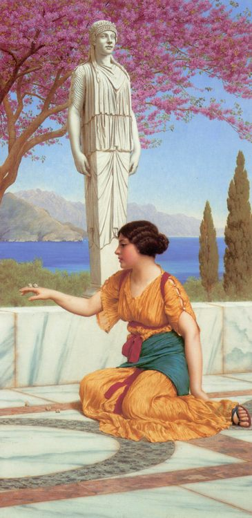 Ancient Pastimes :: John William Godward  - Antique world scenes фото
